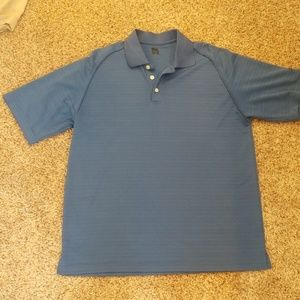 Mens Slazenger blue golf polo.